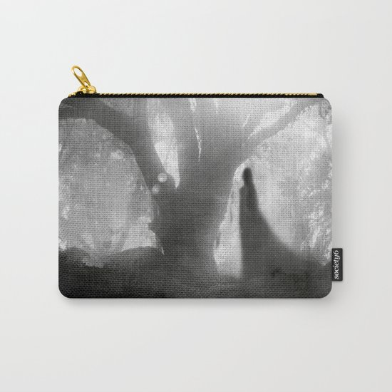 Black and White - Autumn Song Carry-All Pouch
