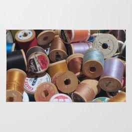 Vintage Spools of Thread Rug