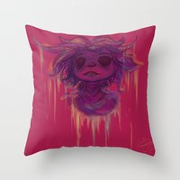 hiccup Throw Pillows featuring Hiccup by Satu Mitsumi