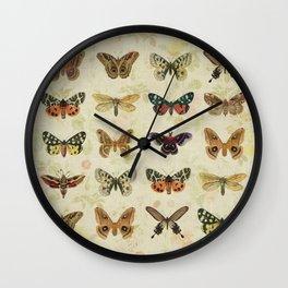 Moths & Butterflies Wall Clock