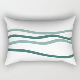 sea is blue Rectangular Pillow
