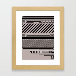 Linear Connection Framed Art Print