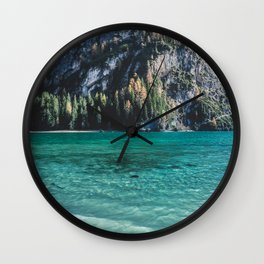 One day at an alpine lake in north Italy. Wall Clock