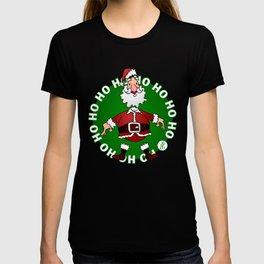 Sants Claus laughing: Ho Ho Ho T-shirt