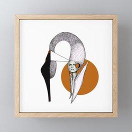 Shoe Swan Framed Mini Art Print