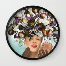 Floral Fashions III Wall Clock