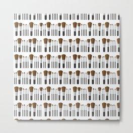 MAKEUP BRUSHES ((white)) Metal Print