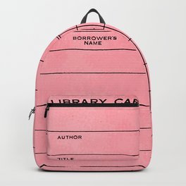 Library Card BSS 28 Pink Backpack