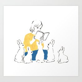 School of rabbits Art Print