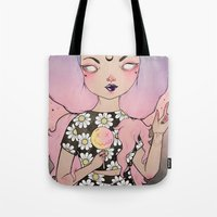 flora Tote Bags featuring Flora by lOll3