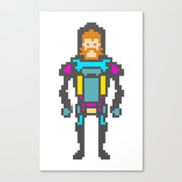8bit Canvas Prints featuring 8bit beard! by Dario Di Donato