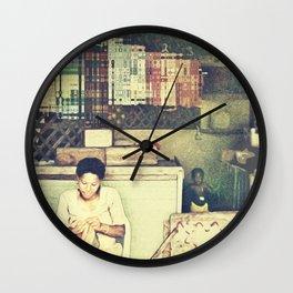 St Lucian Mother Wall Clock