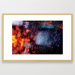 Rainy Night in Singapore Framed Art Print