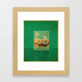 Whiskey Wolf Framed Art Print