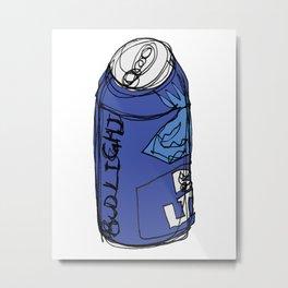 Bud Light Can Metal Print