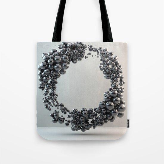 Black bubble Tote Bag