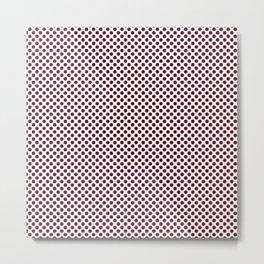 Garnet Polka Dots Metal Print