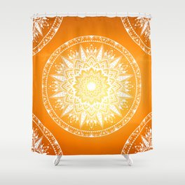 Sunset mandala Shower Curtain