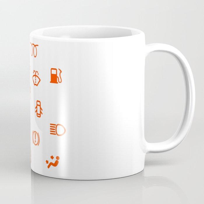 Vehicle Dash Warning Symbols Coffee Mug