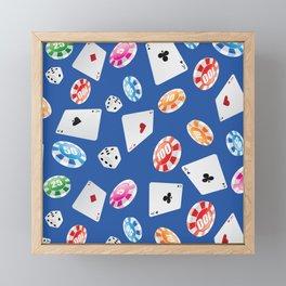 #casino #games #accessories #pattern 6 Framed Mini Art Print