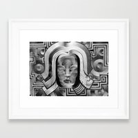 deco Framed Art Prints featuring Deco by Mouseizm