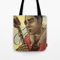 rap Tote Bags featuring Proclaimed King of Rap by Logan  Faerber