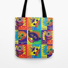 Crayon drawn Monsters Tote Bag