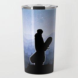 Snowboard Skyline Stand Travel Mug