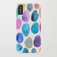 craftberrybush iPhone & iPod Cases featuring watercolor blobs by craftberrybush