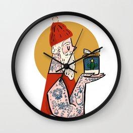Hipster Santa Wall Clock