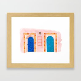 Neighbors - Mediterranean Doors Framed Art Print