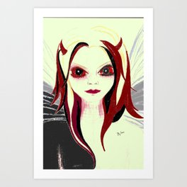 blood shot Art Print
