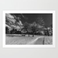 A walkway at Valley Forge Art Print