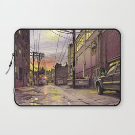 Industrial alley at the sunset Laptop Sleeve