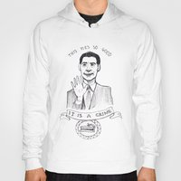 dale cooper Hoodies featuring DALE COOPER : THIS PIE IS SO GOOD IT IS A CRIME by Adrianna Ojrzanowska