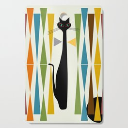 Mid-Century Modern Art Cat 2 Cutting Board