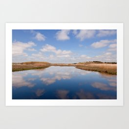 Reflections On The Great Marsh Art Print