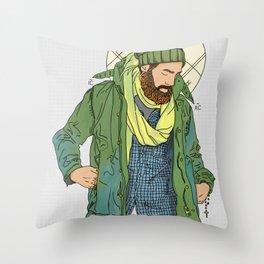 Jesus from New York Throw Pillow