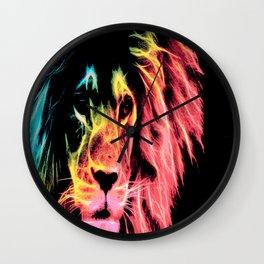 Rainbow Leo Lion Wall Clock
