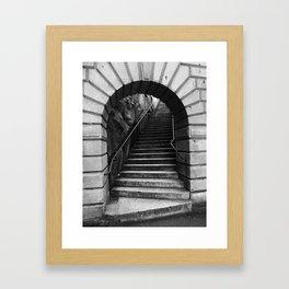 08 Black & White Arch Framed Art Print