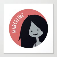 marceline Canvas Prints featuring Marceline by gaps81
