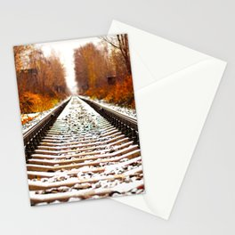 Autumn Forest Train Tracks Stationery Cards