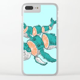 XXIV WHALES Clear iPhone Case