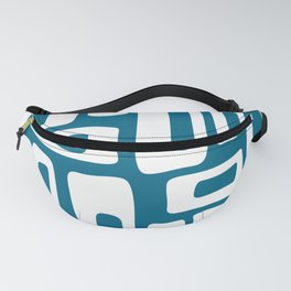 Retro Mid Century Modern Abstract Pattern 335 Peacock Blue Fanny Pack