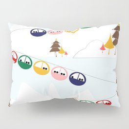 Ski cables Pillow Sham