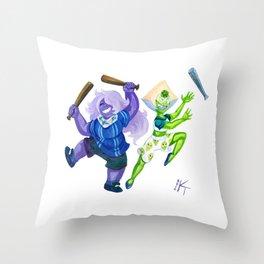 Backup 2 Backup Throw Pillow