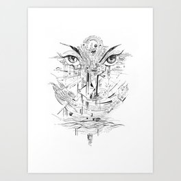 Headlights Art Print
