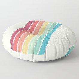 Classic 70s Style Retro Stripes - Penida Floor Pillow