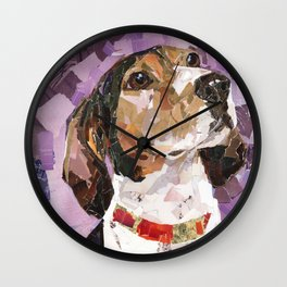 Delilah The Treeing Walker Coonhound Wall Clock