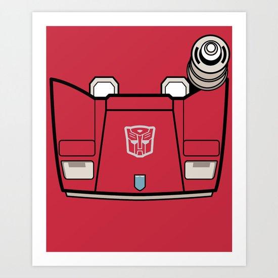 Transformers - Sideswipe Art Print